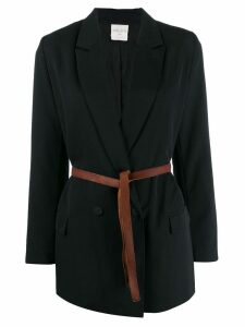Forte Forte belted double-breasted blazer - Blue