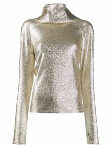 Paco Rabanne glitter effect sweater - Gold