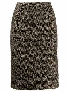 Red Valentino chevron pencil skirt - Neutrals
