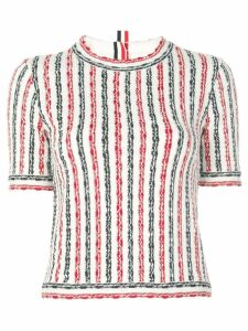 Thom Browne striped knitted top - Red