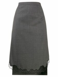 Nº21 tailored step hem skirt - Grey