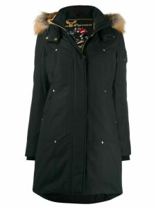 Moose Knuckles fur-trimmed parka coat - Blue