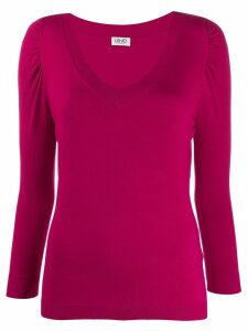 Liu Jo fitted v-neck jumper - Pink