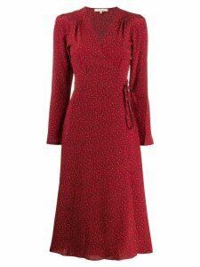 Vanessa Bruno floral print midi dress - Red