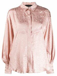 Christian Pellizzari jacquard print shirt - Pink
