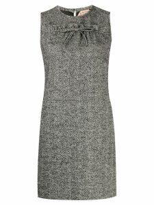 Nº21 herringbone tweed shift dress - Black
