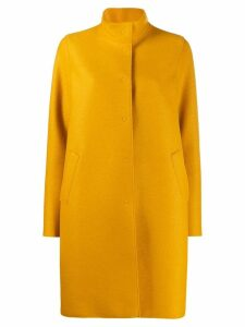 Harris Wharf London concealed button coat - Yellow