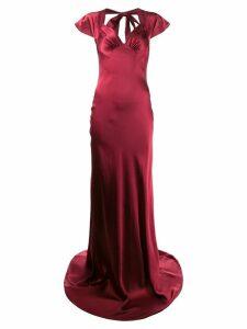 Katharine Hamnett London Lake silk satin long dress - Red