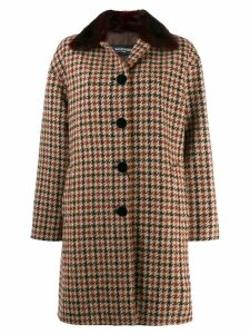 Simonetta Ravizza houndstooth midi coat - Brown