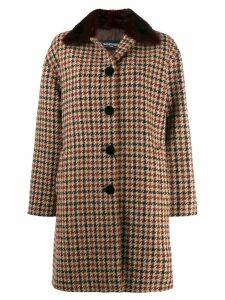Simonetta Ravizza houndstooth midi coat - Brown