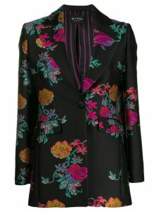 Etro floral embroidered blazer - Black