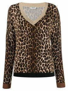 LIU JO leopard print jumper - Neutrals