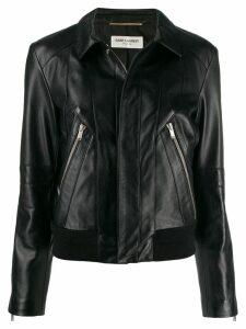 Saint Laurent fitted biker jacket - Black