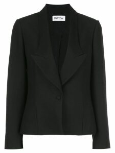 Partow notched lapel one button blazer - Black