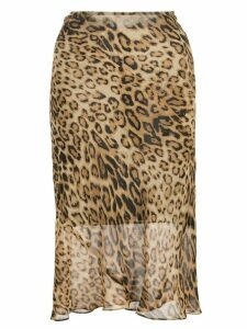 Nili Lotan leopard-print skirt - Brown