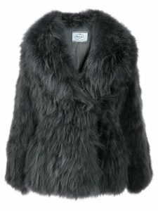 Prada oversized fur coat - Grey