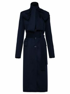 Prada cashmere bow tie coat - Blue
