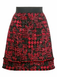 Dolce & Gabbana short tweed skirt - Red