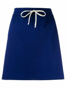 Gucci logo track skirt - Blue