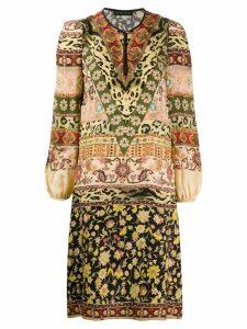 Etro short print mix dress - Neutrals