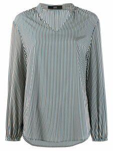Steffen Schraut striped long-sleeved shirt - Blue