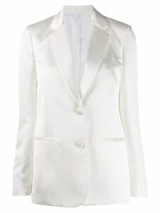 Helmut Lang two-button satin blazer - White