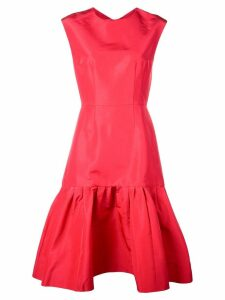Carolina Herrera ruffled mid-length dress - Red