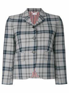 Thom Browne Thom Browne Tartan Wool Sport Coat - Grey