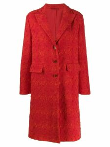 Ermanno Scervino classic single-breasted coat - Red