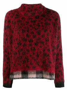 Liu Jo mix print jumper - Red