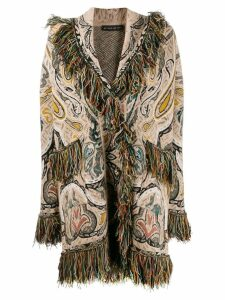 Etro fringed trim coat - Neutrals