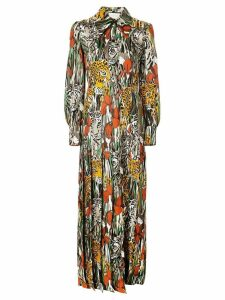 Gucci hidden animal maxi dress - Red