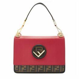 Fendi Kan I F Large Red Leather Shoulder Bag