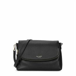 Kate Spade New York Polly Large Black Leather Cross-body Bag