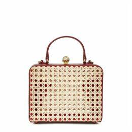 MEHRY MU Luna Rattan Mini Top Handle Bag