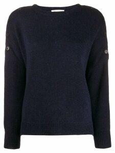 Masscob buttoned shoulders jumper - Blue