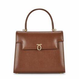 Launer Traviata Brown Leather Cross-body Bag