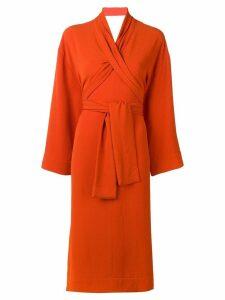 Henrik Vibskov wrap dress - Orange