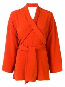 Henrik Vibskov wrap around blouse - Orange