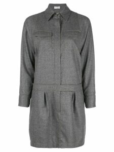 Brunello Cucinelli shirt mini dress - Grey