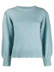 Masscob puff-shoulder jumper - Blue