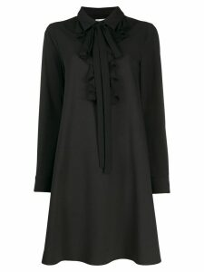 Blumarine Ruffle trim shirt dress - Black