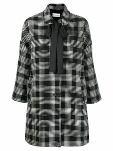 Red Valentino glen plaid coat - White