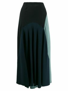 colville flared colour-blocked skirt - Black