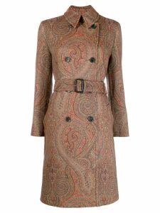 Etro paisley print midi coat - Brown