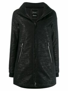Herno zipped hooded raincoat - Black