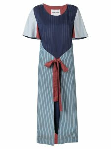 Henrik Vibskov striped wrap dress - Blue