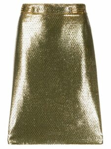 Etro metallic finish skirt - GOLD