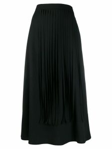 Alysi fringed midi skirt - Black