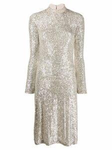 L'Autre Chose sequin embellished dress - SILVER